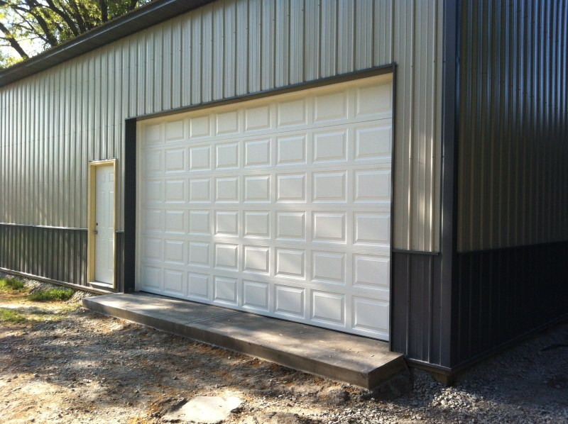 16x9 Garage Door #20: This Model Opener Was Used So We Could Make The Door Go All The Way Up To The Ceiling To Not Be In The Way Of The Car On The Lift: